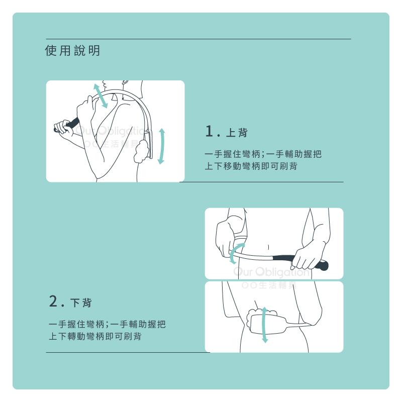 彎柄洗背刷-使用說明